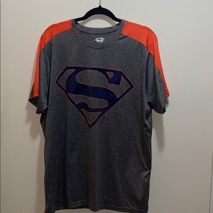 Mens Athletic Mesh Superman Tee Shirt XL